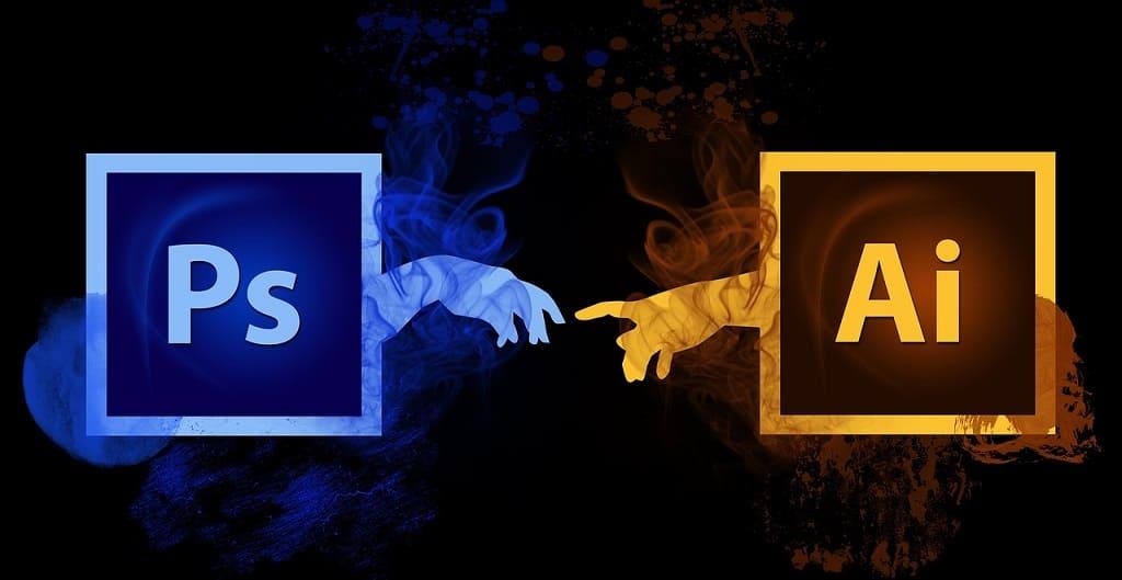 logotipo photoshop e adobe illustrator